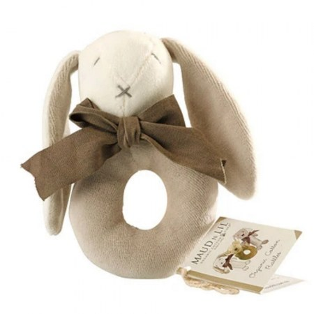 Grey Donut Rattle By Maud N Lil