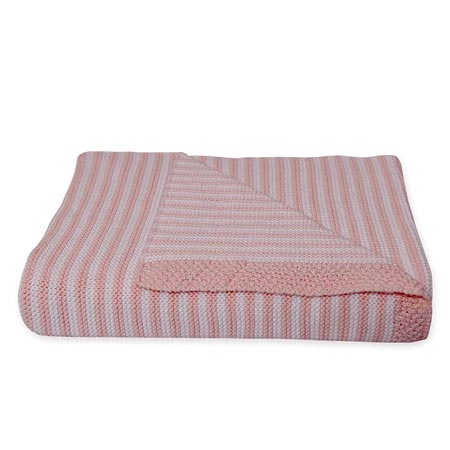Bassinet Knitted Blanket in Pink
