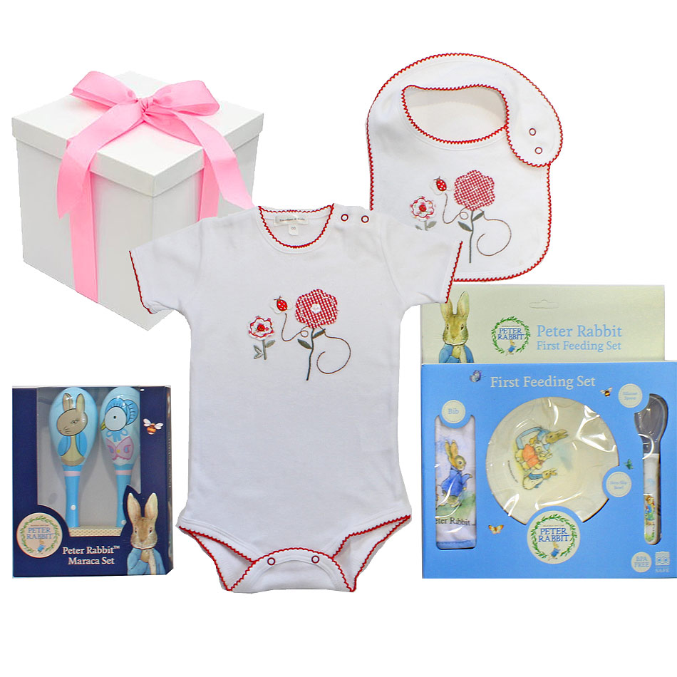 Peter Rabbit Hamper for a Girl - Click Image to Close