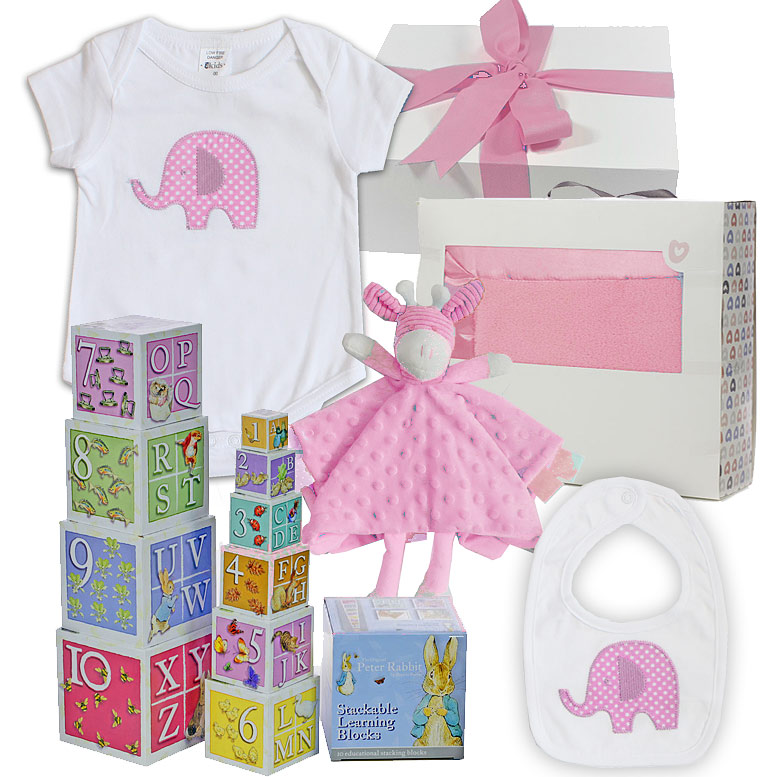 Pink Elephant Hamper - Click Image to Close
