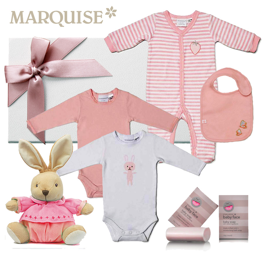 Marquise Baby Girl Hamper - Click Image to Close