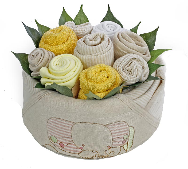 Organic baby bouquet for a girl my baby gifts organic baby bouquet for a girl negle Gallery