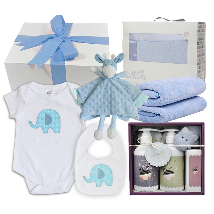 Star & Rose Hamper in Blue - Click Image to Close