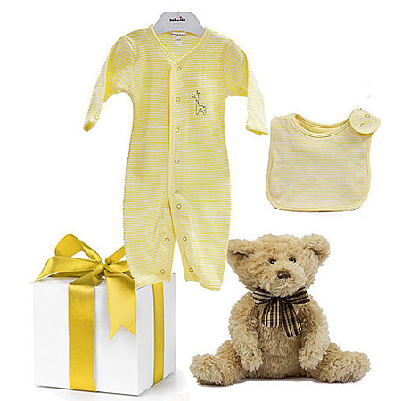 Emotion and Kids Lemon Unisex Gift with Bear