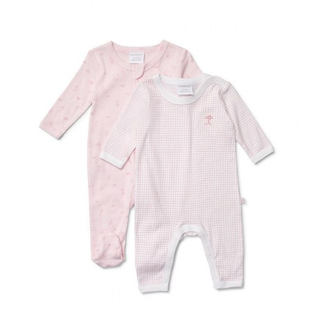 Marquise Girls Growsuit Fairy Pink 2 Pack