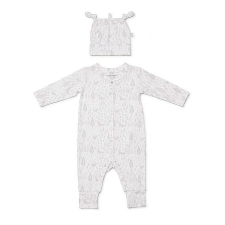 Marquise Studsuit And Beanie Grey Print