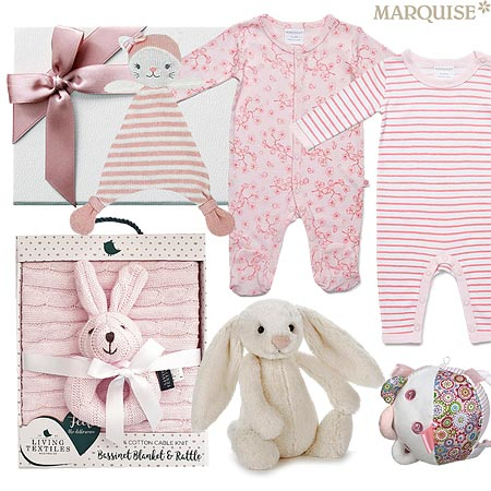 Marquise Japanese Blossom & Stripes Baby Hamper