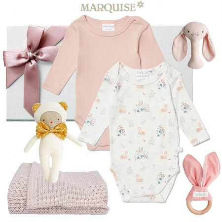 Marquise Swan Baby Gift Hamper