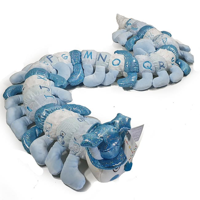 Blue Toned Alphabet Caterpillar