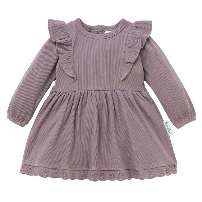 Aster & Oak Elderberry Ruffle Dress
