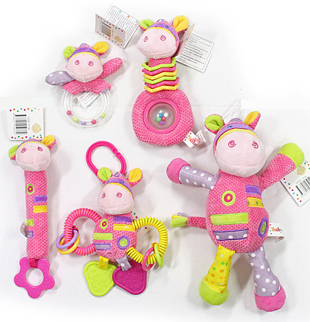 Colourful Pink Baby Boo Rattles