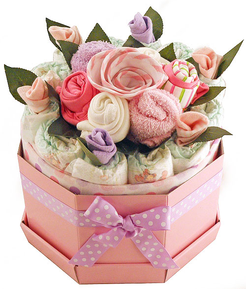 New Baby Floral Gift Ideas : Baby bouquets bright girl bouquet gifts