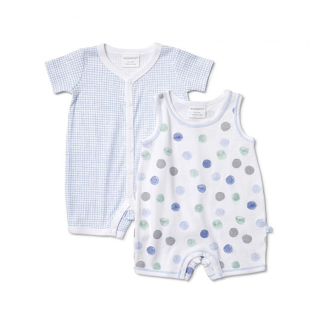 Marquise Bodysuits Blocks and Dots