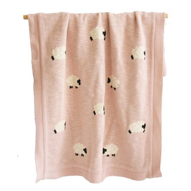 Blanket Organic Cotton Dusty Pink