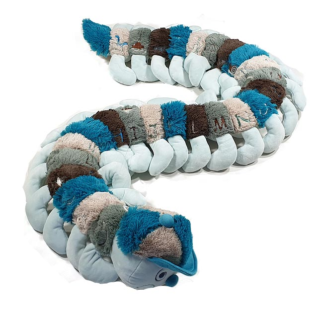 Blue & Brown Alphabet Caterpillar