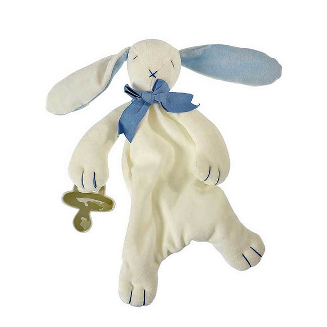 Bunny Comforter in Blue by Maud N Lil