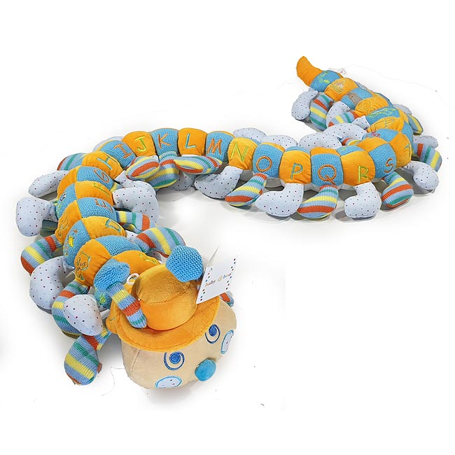 Colourful Spotted Alphabet Caterpillar for a Boy