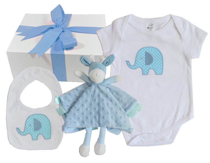 Baby gift sets baby gift hampers by bonds babaluno and emotion new little blue elephant negle Images