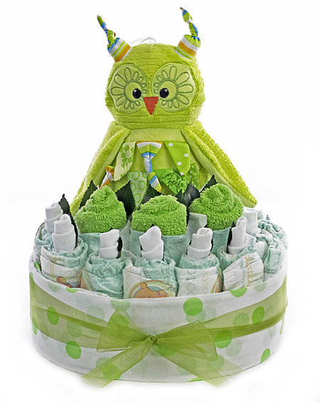 Green Owl Baby Bouquet