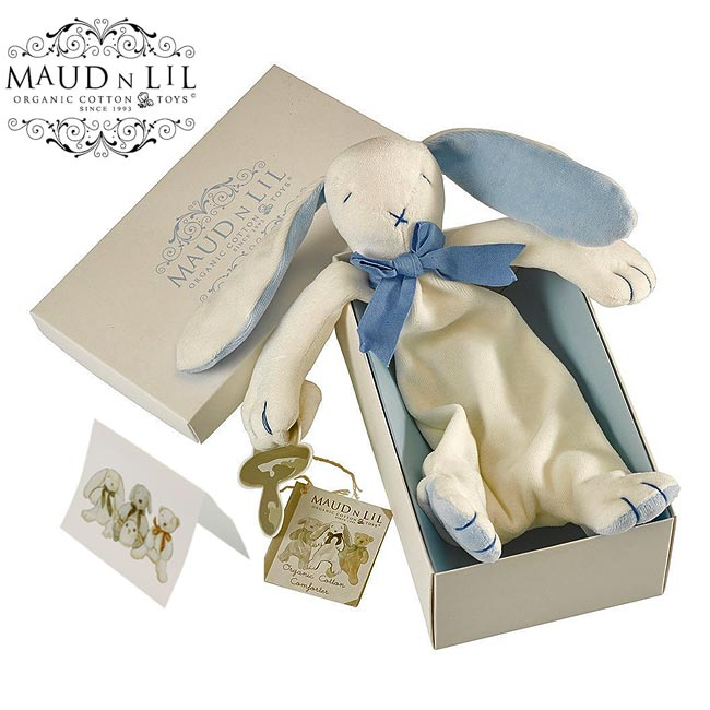 Boxed Bunny Comforter by Maud N Lil in Blue
