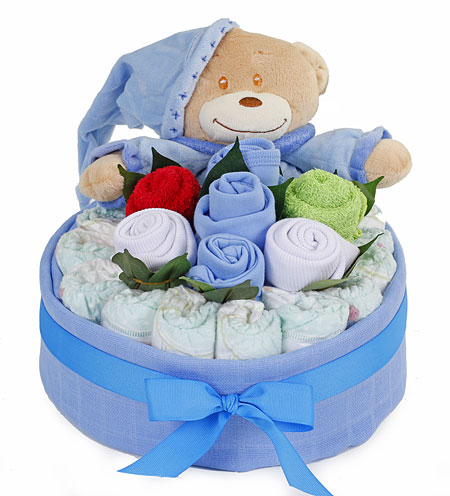 Bedtime Nappy Cake Bouquet Boy