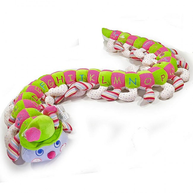 Colourful Spotted Alphabet Caterpillar for a Girl