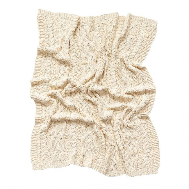 Reilly Natural Cable Knit Blanket