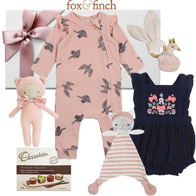 Fox & Finch Scandi Baby Girl Hamper