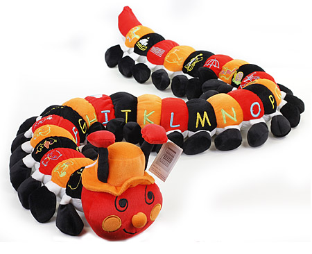 Alphabet Caterpillar in Black and Orange
