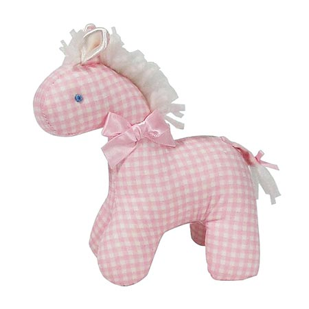 Kate Finn chequered Mini Pink Horse