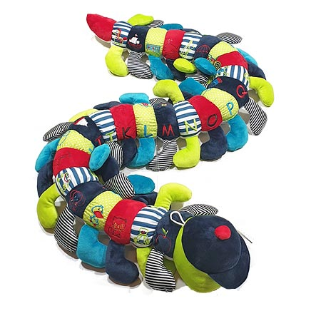 Multi Coloured Alphabet Caterpillar in Blues