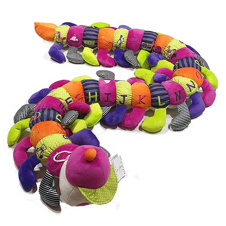 Multi Coloured Alphabet Caterpillar in Pinks