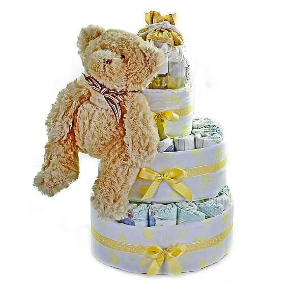 Neutral Nappy Cake Large