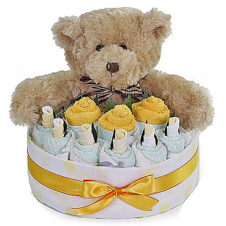 Yellow Nappy Cake