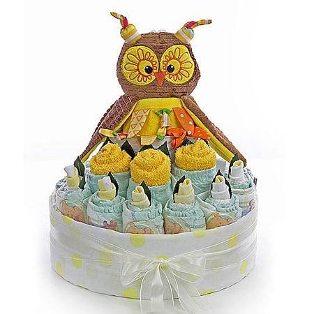 Yellow Owl Baby Bouquet