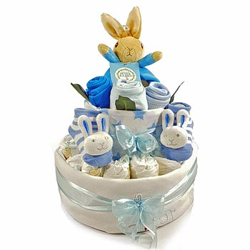 Peter Rabbit Nappy Cake with Soy Candle