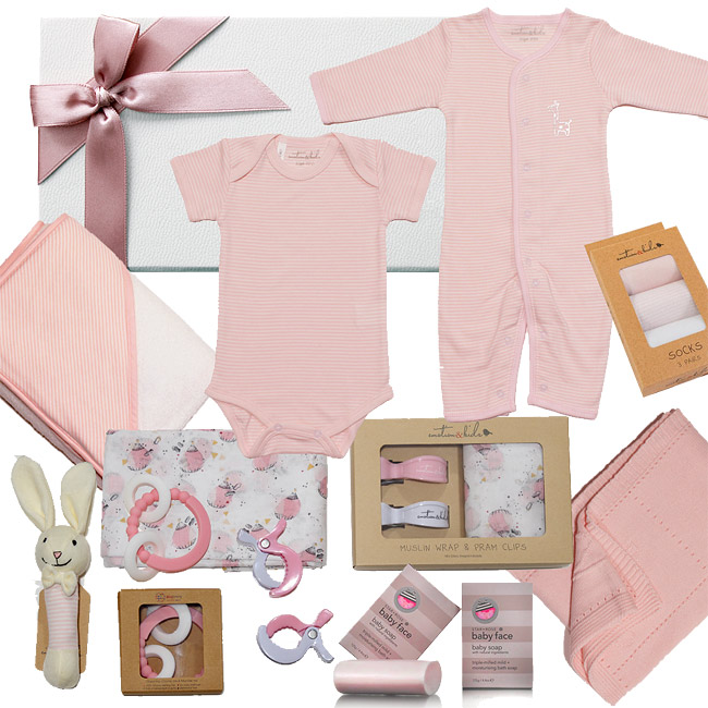 Emotion & Kids Soft Pink Hamper