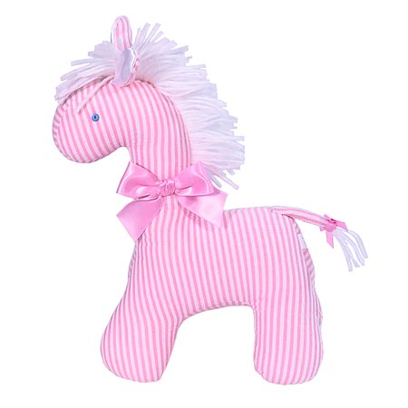 Kate Finn Pink Stripes Horse
