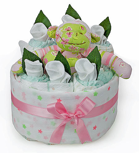 Cheeky Monkey Nappy Cake