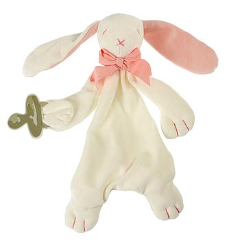 Bunny Comforter in Pink by Maud N Lil