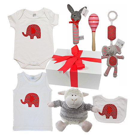 Elephant Hamper in Red