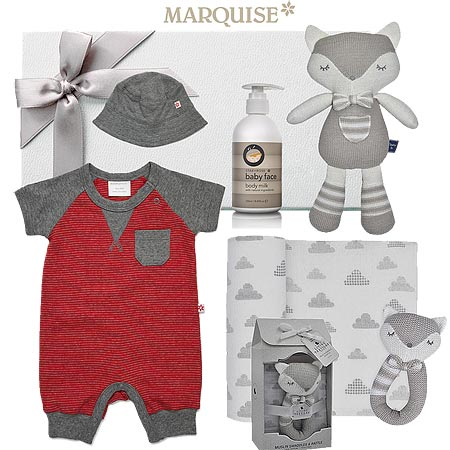 Marquise Scribble Romper & Hat Gift Set
