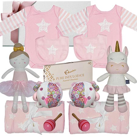 Deluxe Twin Girl Baby Hamper