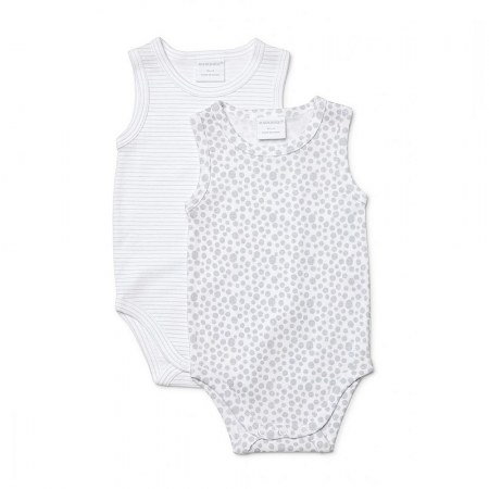 Marquise Unisex Sleeveless Bodysuits Grey